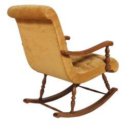 Deer Antler Rocking Chair Design Structure Mid Century Italian In Walnut And Velvet