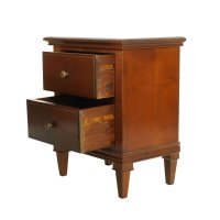 Italian Walnut Nightstand for sale at Pamono