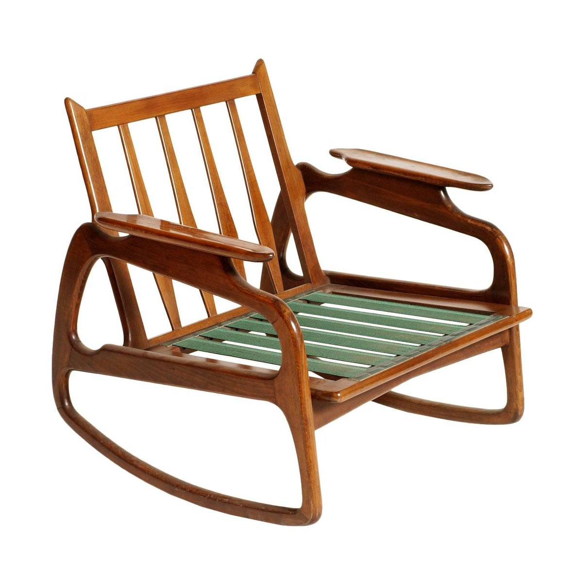 Walnut Rocking Chair by Adrian Pearsall 1950s for sale at