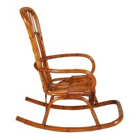 Mid-Century Italian Bamboo Rocking Chair for sale at Pamono