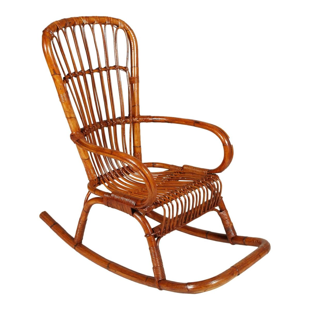 Cheap Rocking Chairs Mid Century Italian Bamboo Rocking Chair