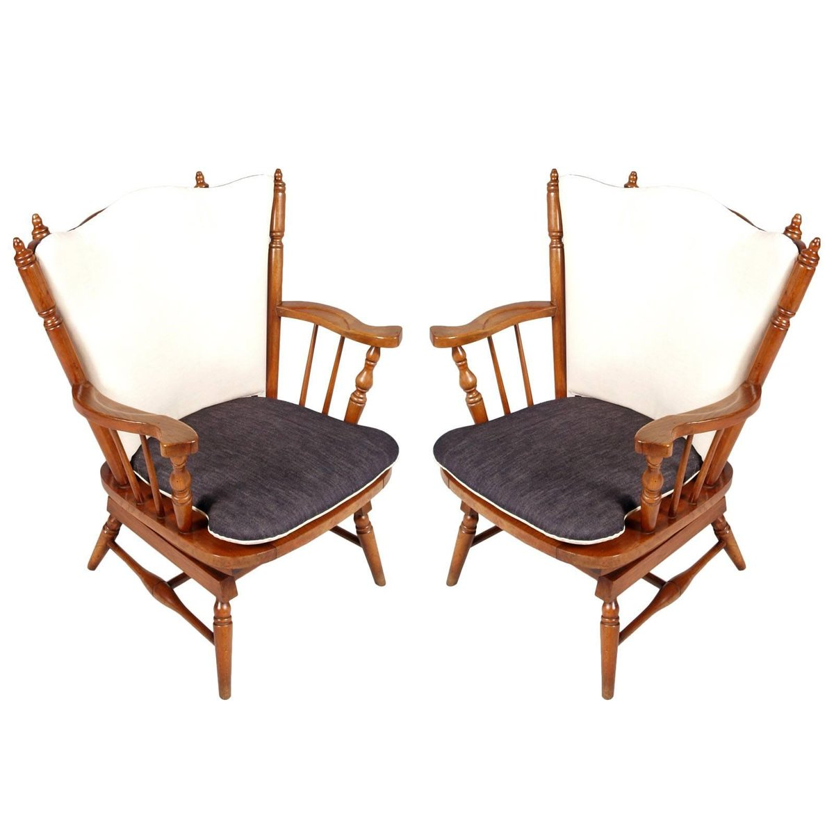 Spring Rocking Chair Chiavari Chestnut Rocking Chairs With Springs 1930s Set