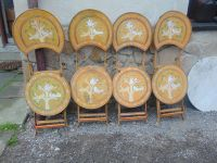 Painted Garden Metal Chairs, 1960s, Set of 4 for sale at ...