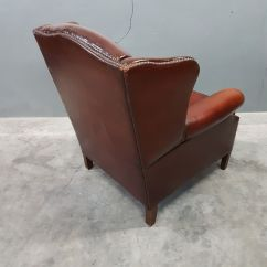 Leather Wingback Chairs South Africa Brookstone Massage Chair Reviews Sheep Wing From Muylaert 1970s For Sale At