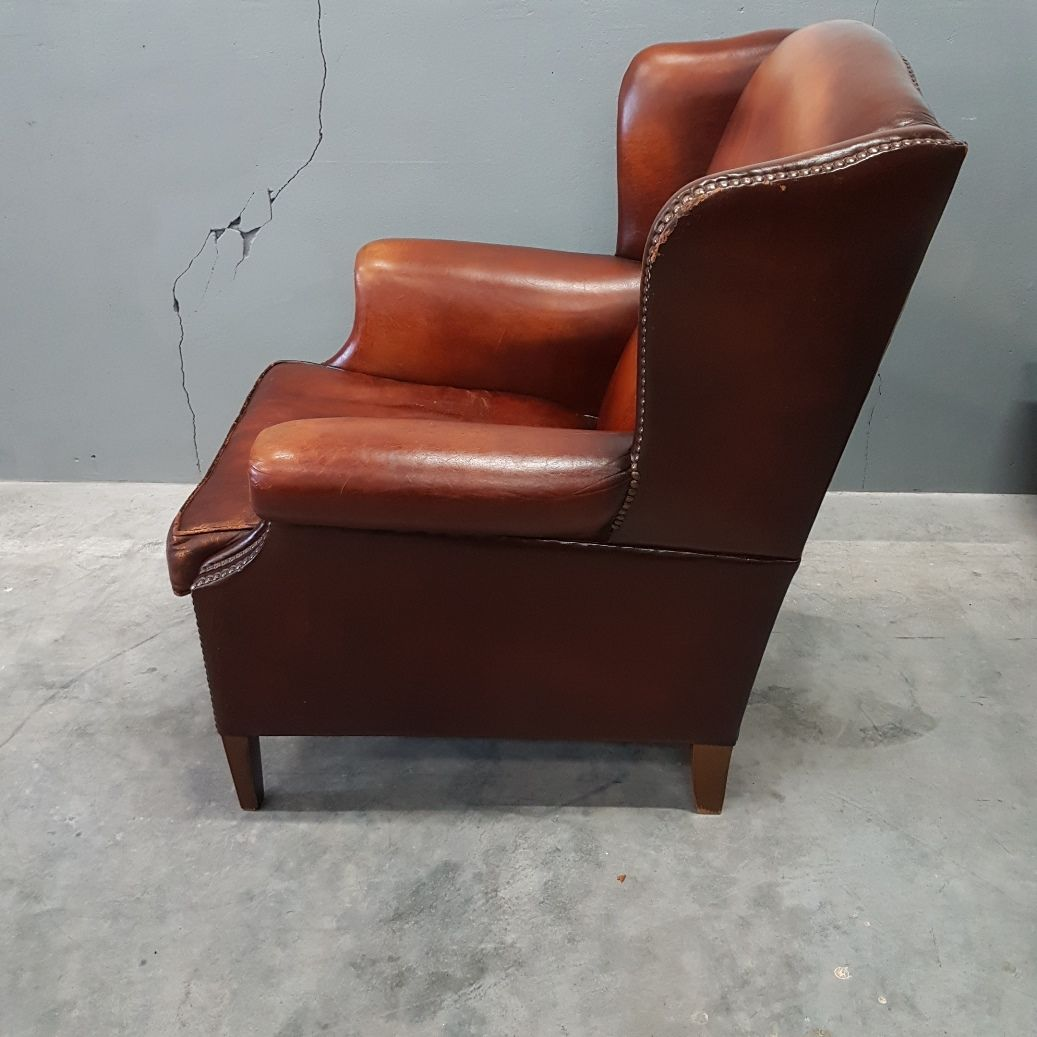 leather wingback chairs south africa steel chair kijiji sheep wing from muylaert 1970s for sale at