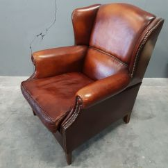 Leather Wingback Chairs South Africa Stretch Dining Chair Covers Amazon Sheep Wing From Muylaert 1970s For Sale At