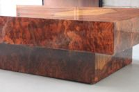 Burl Coffee Table, 1960s for sale at Pamono