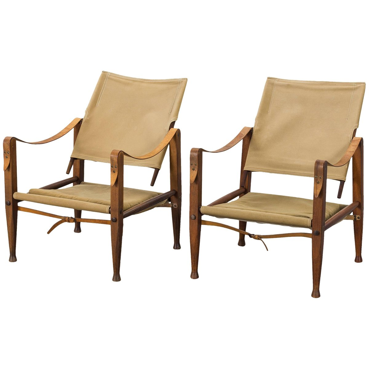 Safari Chairs Vintage Safari Chairs In Canvas By Kaare Klint For Rud Rasmussen Set Of 2