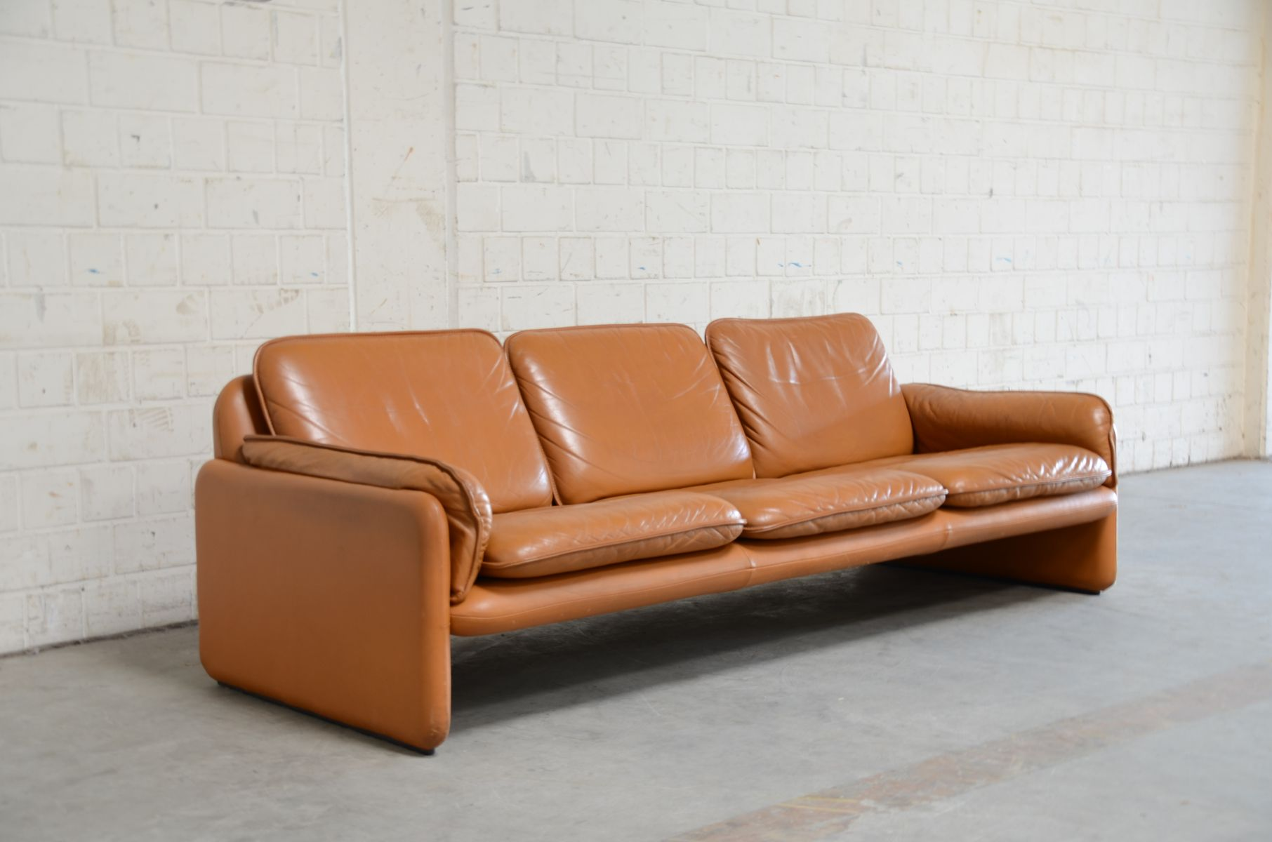 de sede sofa vintage slipcover diy ds 61 in cognac leather from for sale
