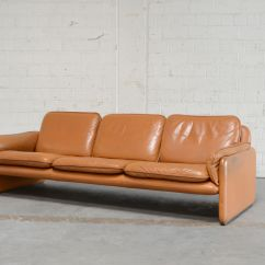 De Sede Sofa Vintage Three Seat With Chaise Ds 61 In Cognac Leather From For Sale