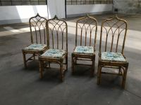 Mid-Century Modern Italian Bamboo Chairs, 1960s, Set of 4 ...
