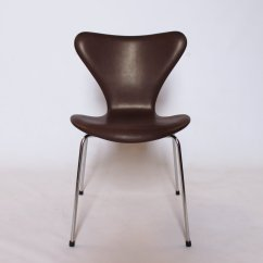 Dark Brown Leather Chair Hammock Stand Diy Model 3107 Chairs By Arne Jacobsen For Fritz Hansen 1967 Set Of 4