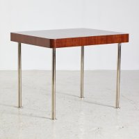 Vintage Chrome Legs Walnut Console Table, 1930s for sale ...