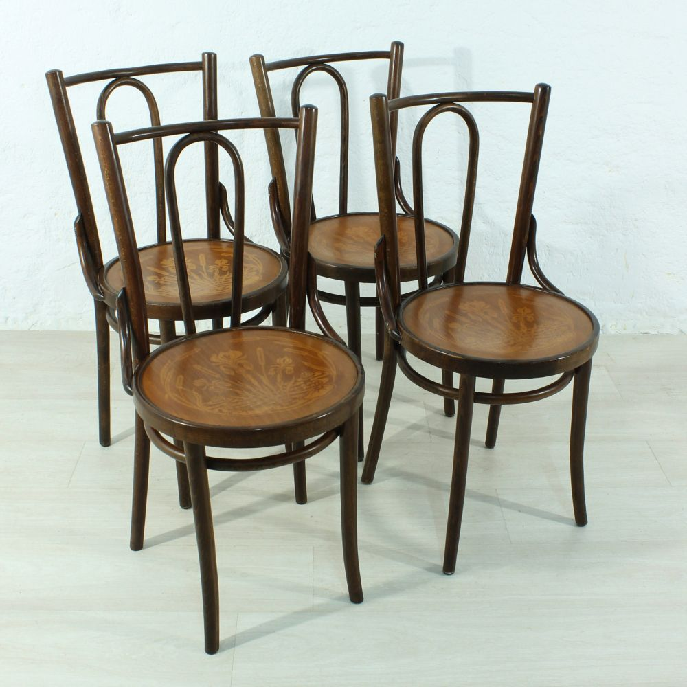 vintage bentwood chairs swing chair kerala set of 4 for sale at pamono