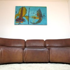 Cosmo Black Leather Sofa Ethan Allen Preston Buffalo Native American With Painted