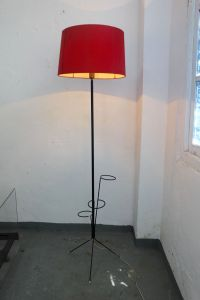 Mid-Century Iron Floor Lamp with Flowers Pot Holes, 1950s ...