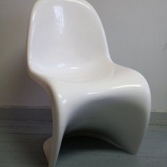 Vernon Panton Chair Rolling Office White Chairs By Verner For Herman Miller 1976 Set Of 2