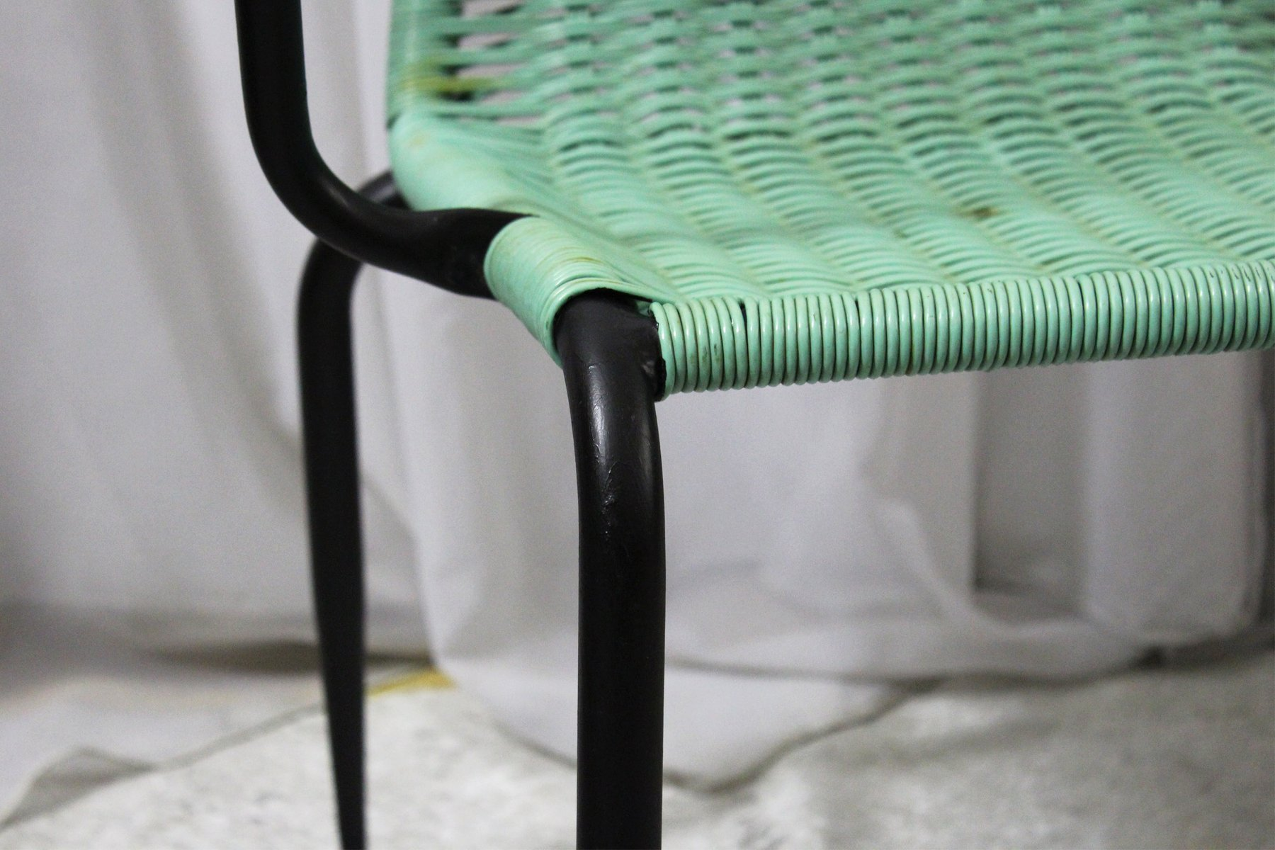woven plastic garden chairs frontgate chaise lounge 1950s set of 4 for sale at pamono 12 381 00 price per