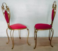 Italian Wrought Iron Chairs by Pier Luigi Colli, 1955, Set