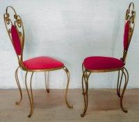 Italian Wrought Iron Chairs by Pier Luigi Colli, 1955, Set ...
