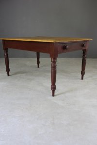 Victorian Pine Kitchen Table for sale at Pamono