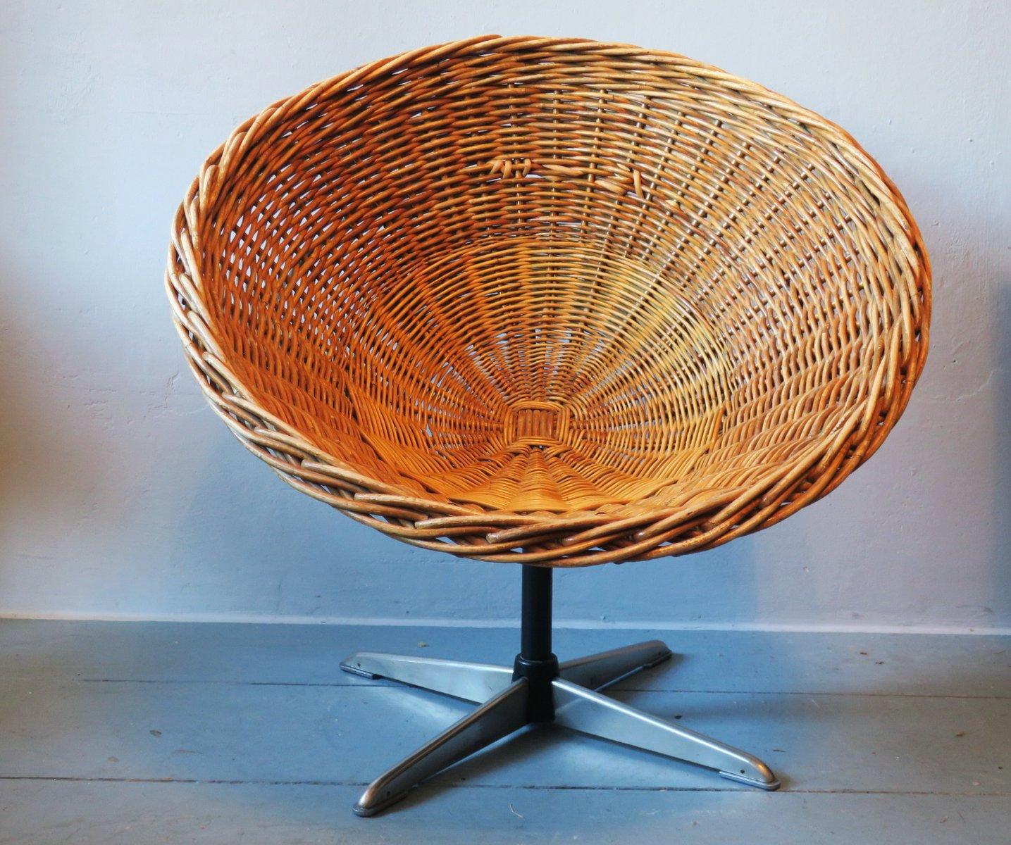 swivel pod chair marcel breuer repair mid century rattan iron steel 1960s for sale at