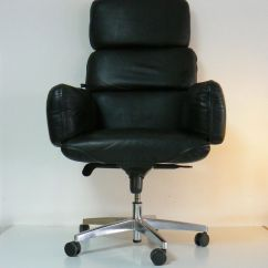 Black Leather Desk Chairs Cynthia Rowley Nailhead Executive Chair By Otto Zapf For Topstar 1970s