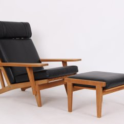 Chair Design Model Pressed Back Chairs Ge375 Ge375s Oak Leather Lounge And Stool By Hans J Price Per Set