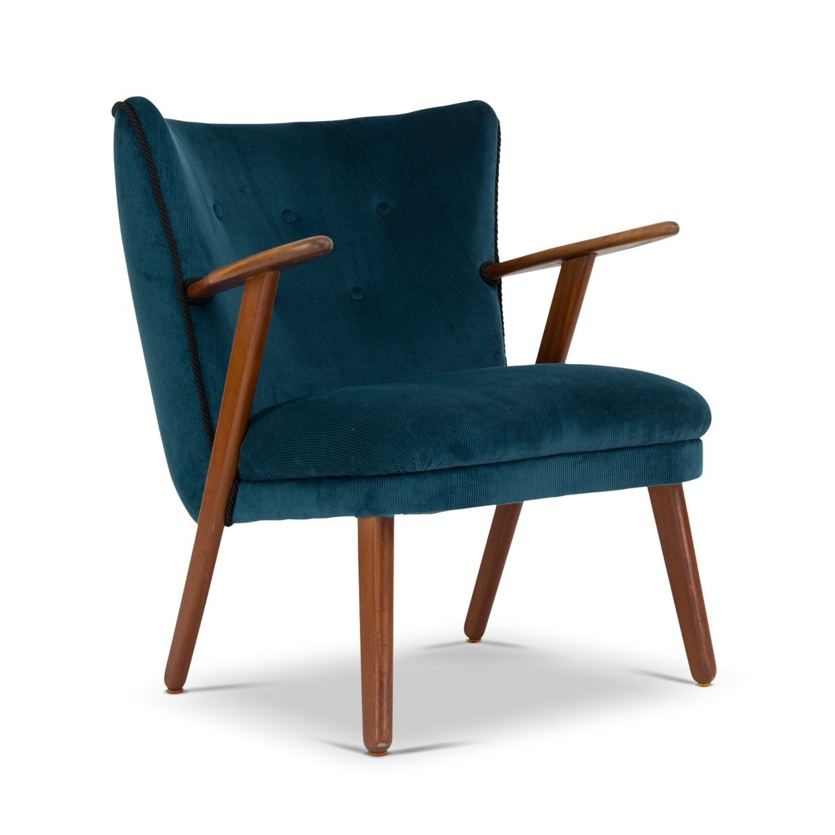 Mid Century Danish Chair Mid Century Danish Blue And Green Cocktail Chair 1960s For
