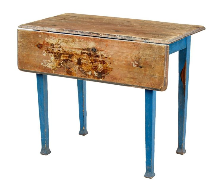 antique swedish pine drop leaf kitchen table for sale at pamono