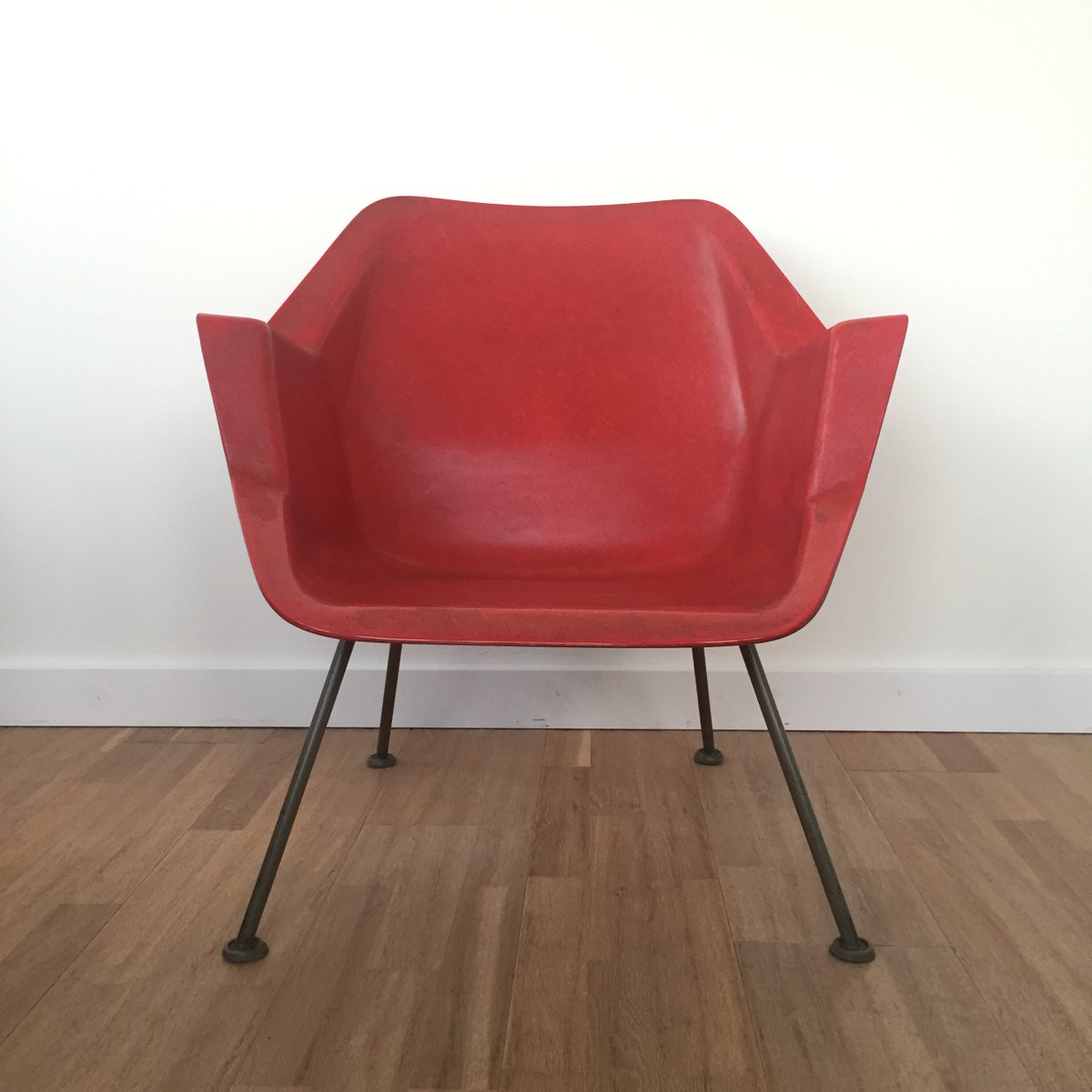 fiberglass shell chair versalite folding arm 416 by wim rietveld andre cordemeyer for gispen 1950s