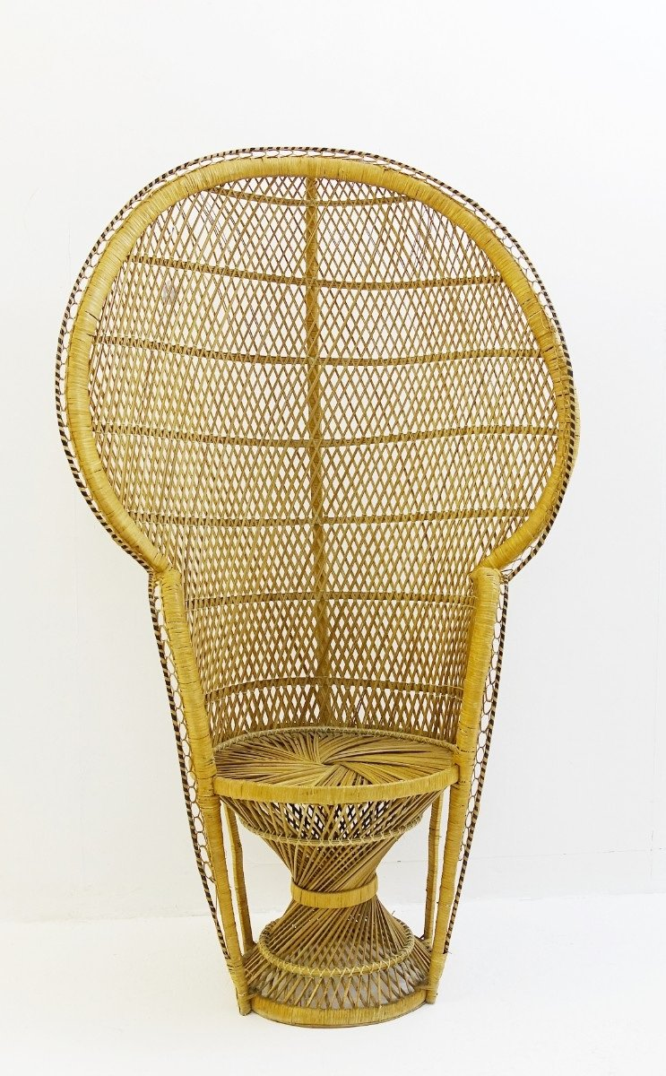 vintage peacock chair office chairs lowestoft rattan for sale at pamono 3 442 00 price per piece