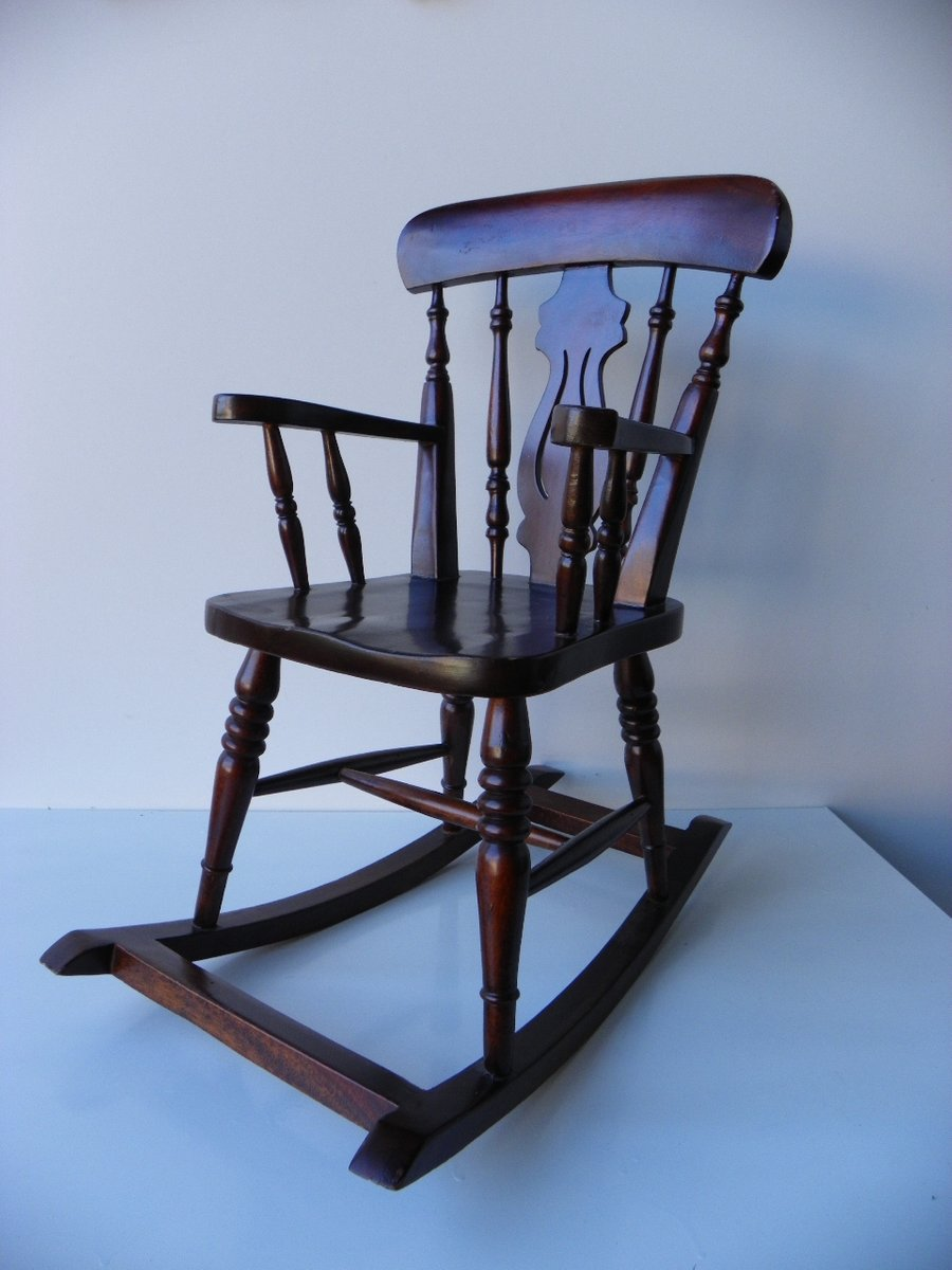 antique wooden rocking chairs chair covers decoration ideas small vintage for sale at pamono