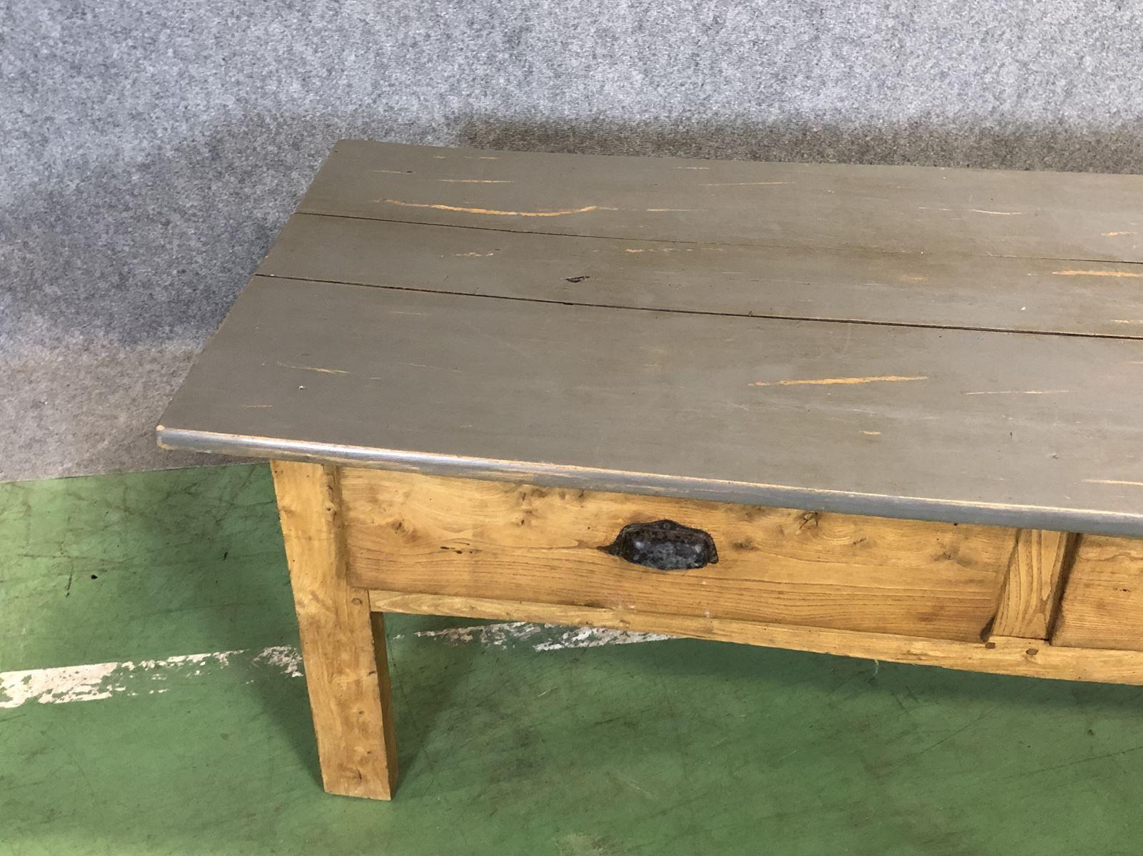 Couchtisch Ulmenholz Wohnzimmertisch Holz Metall 10017 Made House