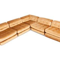 Roche Bobois Mah Jong Modular Sofa Preis Led Light Set Modulares Vintage Mit Goldenem Samtbezug Von