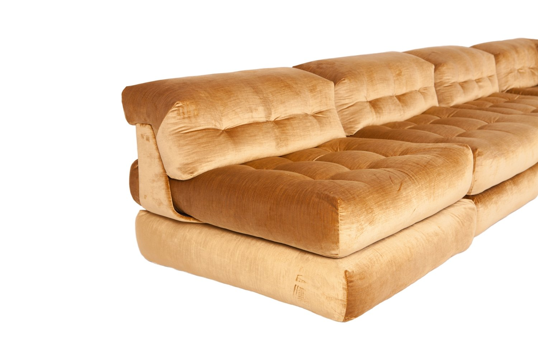 roche bobois mah jong modular sofa preis movie sectional sofas modulares vintage mit goldenem samtbezug von