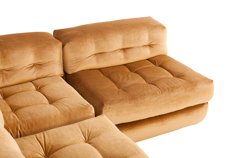 roche bobois mah jong modular sofa preis gray leather living room ideas modulares vintage mit goldenem samtbezug von ...