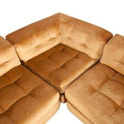 Roche Bobois Mah Jong Modular Sofa Preis Abbyson Living Charlotte Beige Sectional And Ottoman Modulares Vintage Mit Goldenem Samtbezug Von