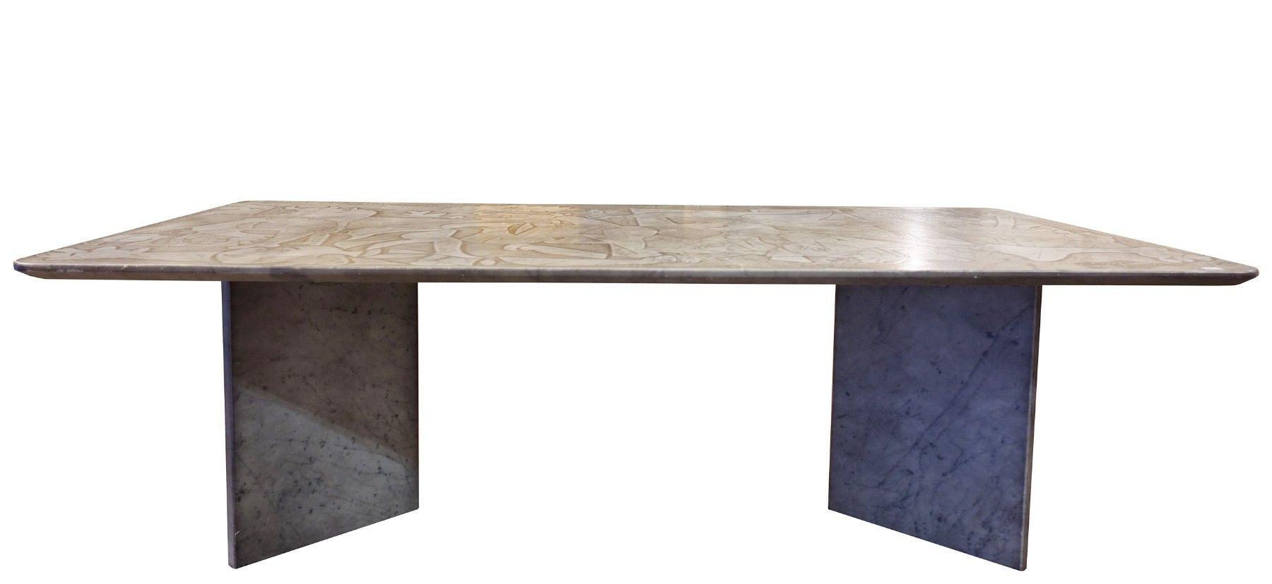 table basse picasso en marbre 1980s