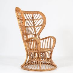 Rattan Wingback Chairs Hanging Basket Chair Mid Century Modern By Lio Carminati For Price Per Piece