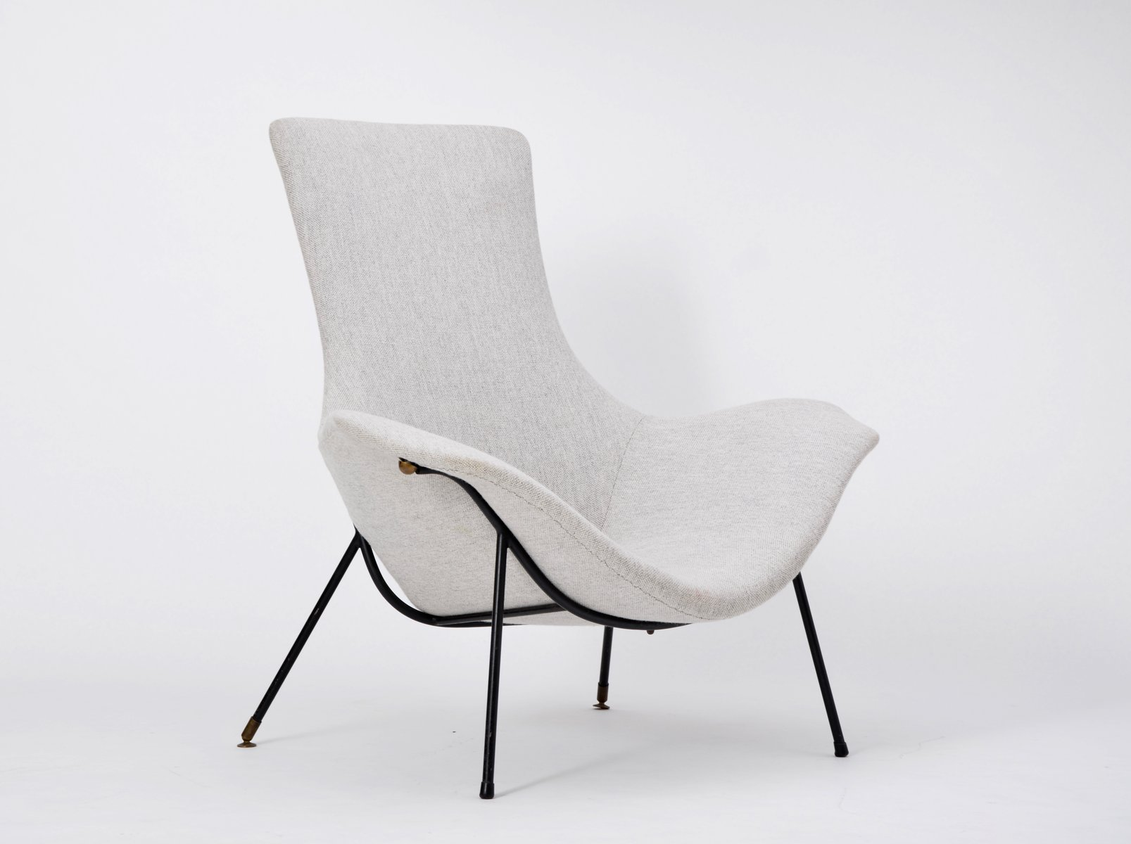 Grey Lounge Chair Vintage Grey Lounge Chair By Augusto Bozzi For Fratelli