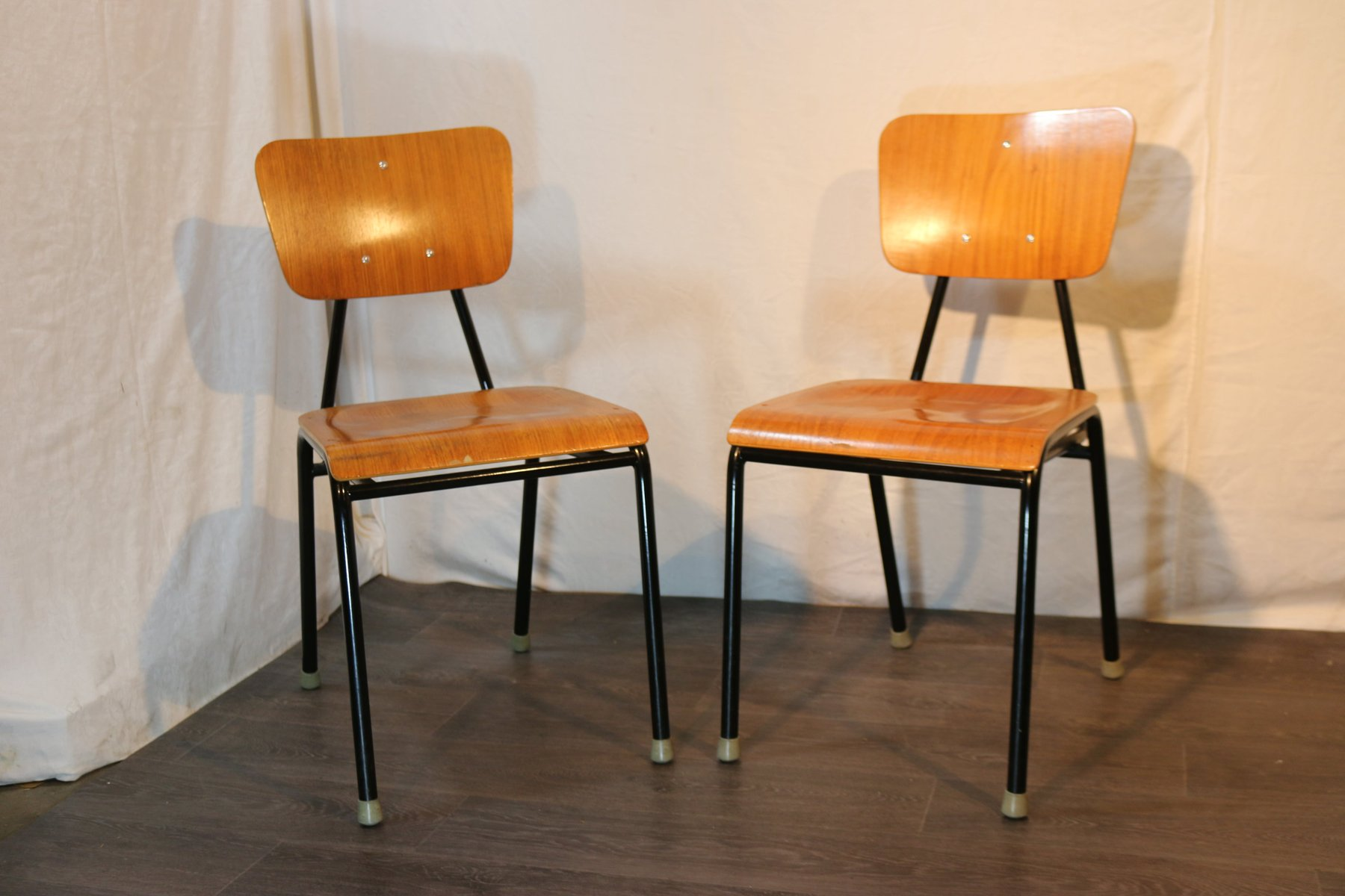 Vintage School Chairs Vintage School Chairs 1960s Set Of 2