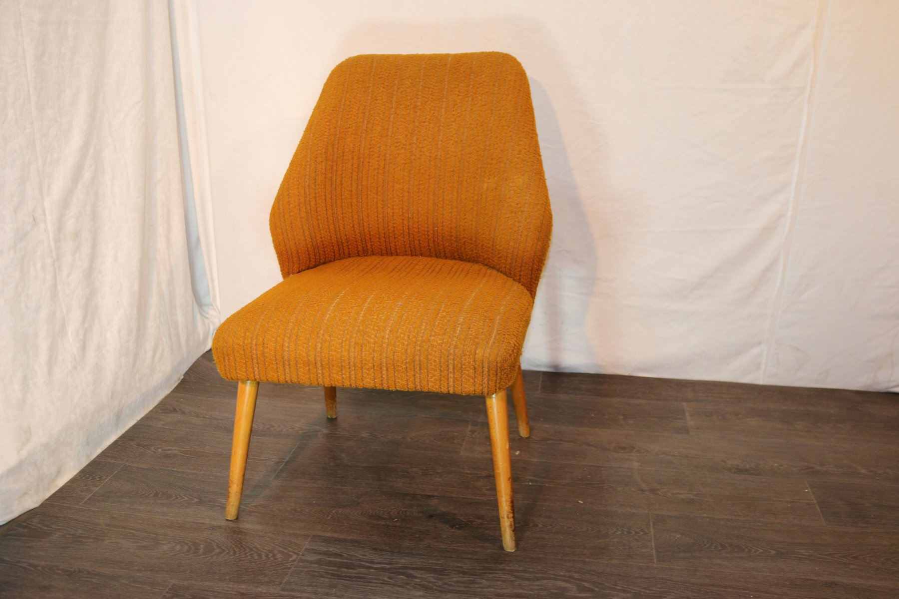 orange upholstered chair desk for tall person vintage danish lounge 1960s sale at pamono