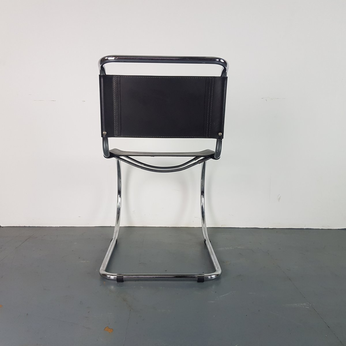 leather chrome chair amazon covers for weddings mid century black by ludwig mies van der rohe price per piece