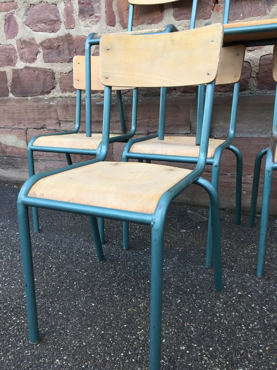 Vintage School Chairs Vintage School Chairs From Mullca Set Of 6