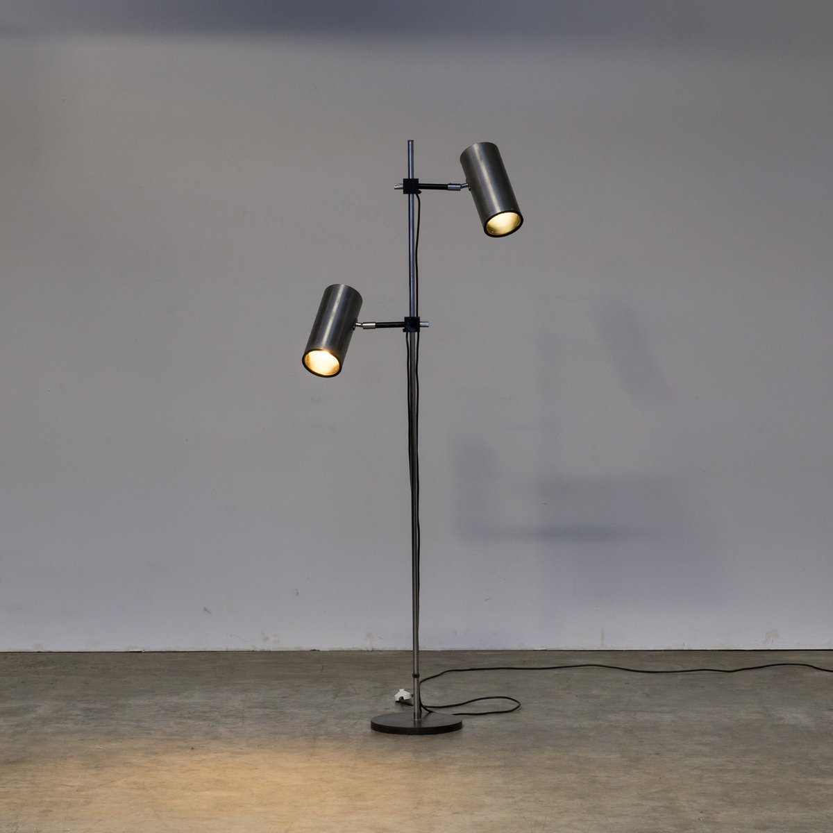 Stehlampe Edelstahl Vintage Nautisch Stativ Projektor Stehlampe