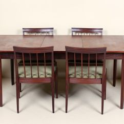 Table And 6 Chairs Behind The Chair Ombre Vintage Dining 1970s For Sale At Pamono