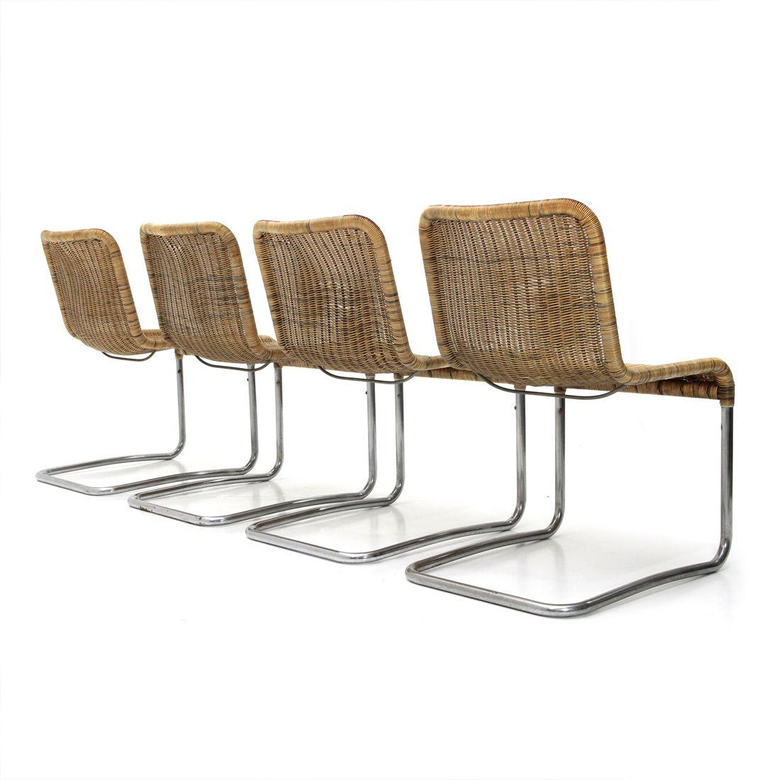 chrome dining chairs australia ergonomic chair ultrasound italian 1970s set of 4 en vente sur