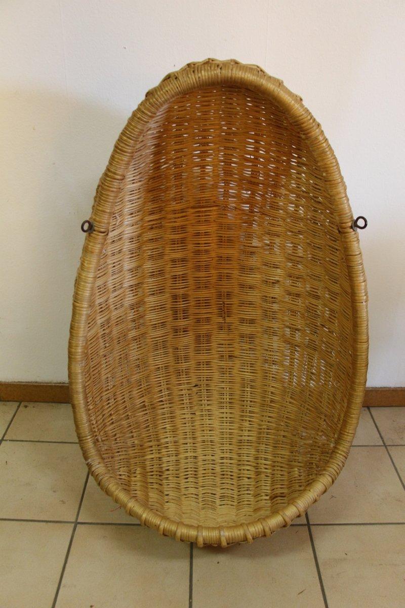 Vintage Rattan Hanging Egg Chair for sale at Pamono