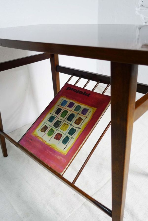 Czech Coffee Table With Rack 1960s